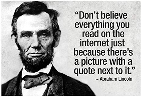 Abraham Lincoln and the internet