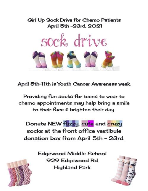 Girl Up Sock Drive
